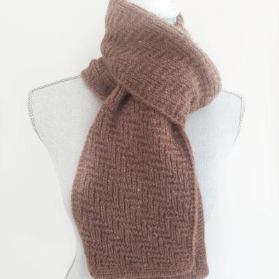 Brown Herringbone Unisex Winter Scarf