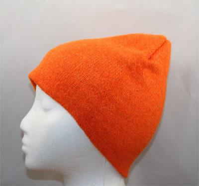 Hunter orange alpaca beanie