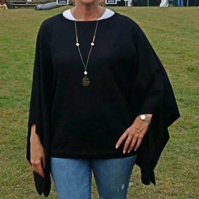 black alpaca poncho