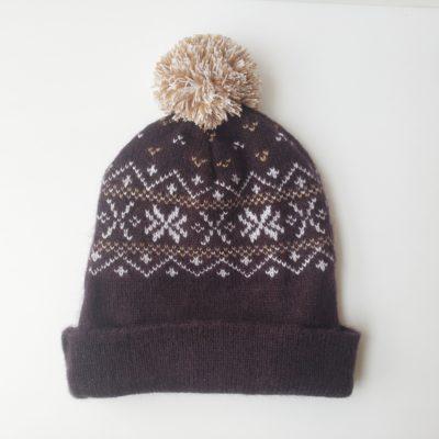 Sky Snowflake Alpaca Hat