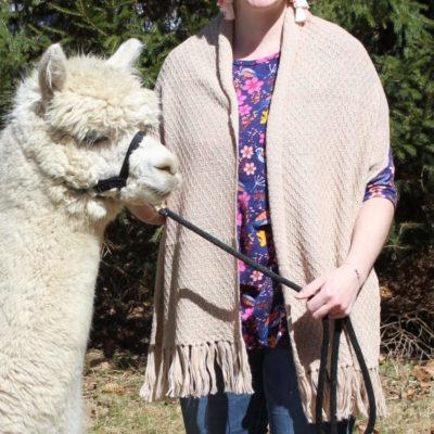 lightweight alpaca shawl