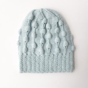 Infant Blue Alpaca Hat