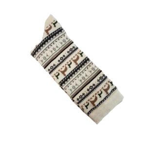 print alpaca crew sock