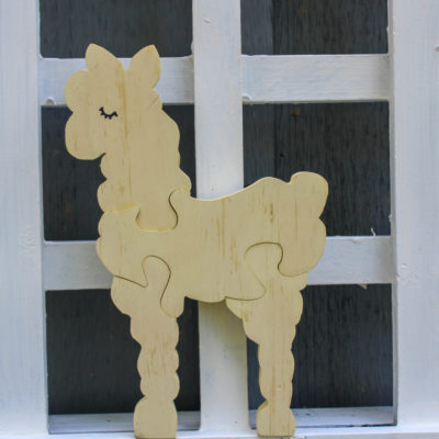Toddler wooden alpaca puzzle