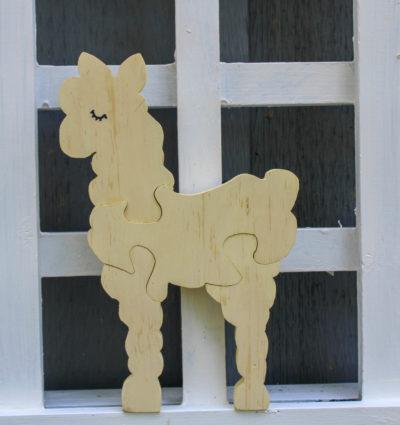Toddler wooden alpaca puzzle