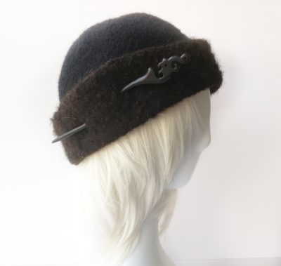 Wool and alpaca one of a kind hat