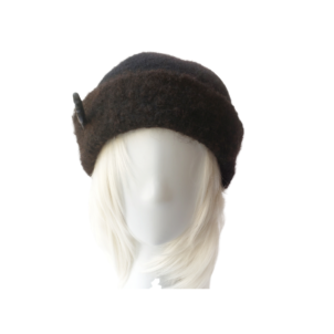 black wool hand made hat