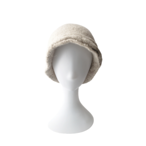cream handmade bucket hat in wool