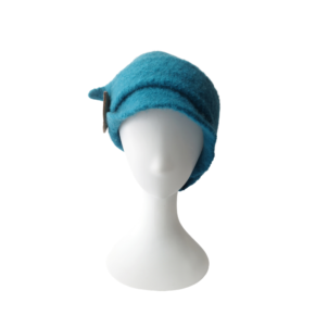 turquoise hand made wool hat
