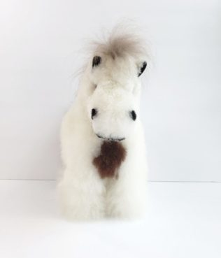 Horse plush from alpaca fiber