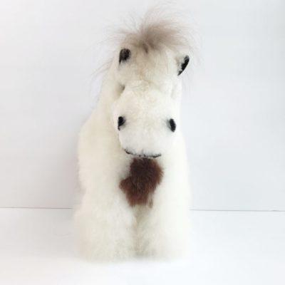 Horse plush from alpaca fiber