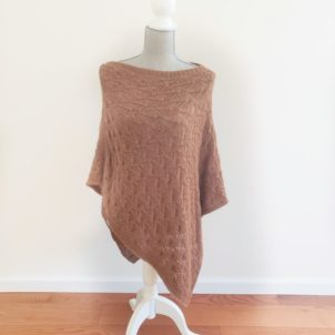 Alpaca Shawl with intricate detail