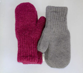 alpaca boucle mitten made in the USA