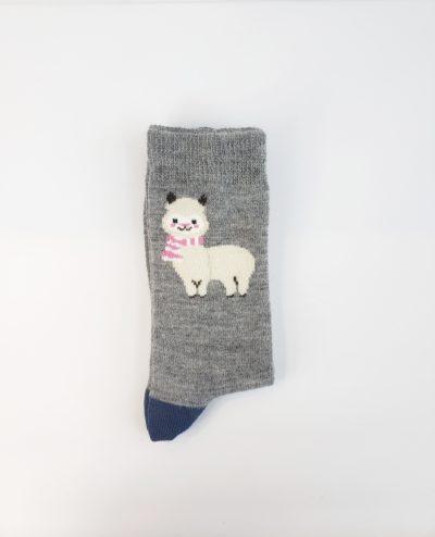 Adorable alpaca sock