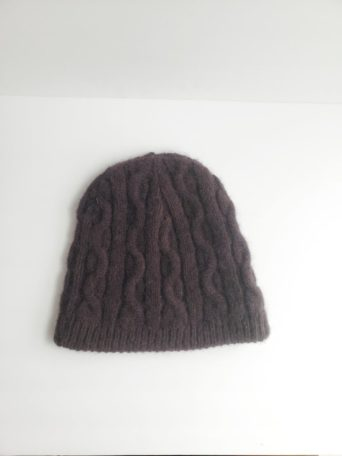 Alpaca cable beanie made in the USA
