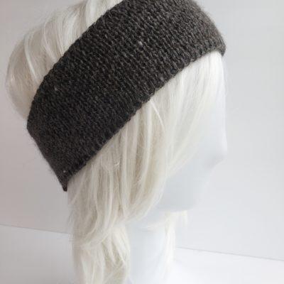 Solid Grey Alpaca Headband