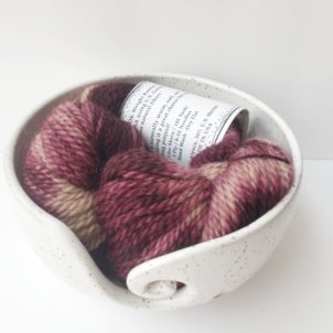 Hand painted alpaca yarn mulberry