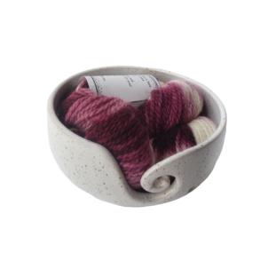 mulberry cream alpaca yarn