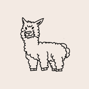 Lilymoore Farm Alpaca Cartoon