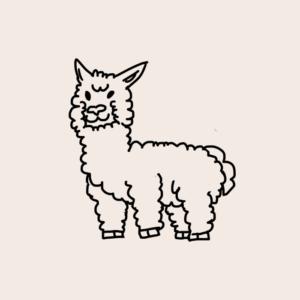 Lilymoore Farm Alpaca Cartoon