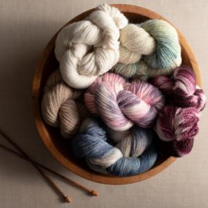 beautiful USA made alpaca yarn