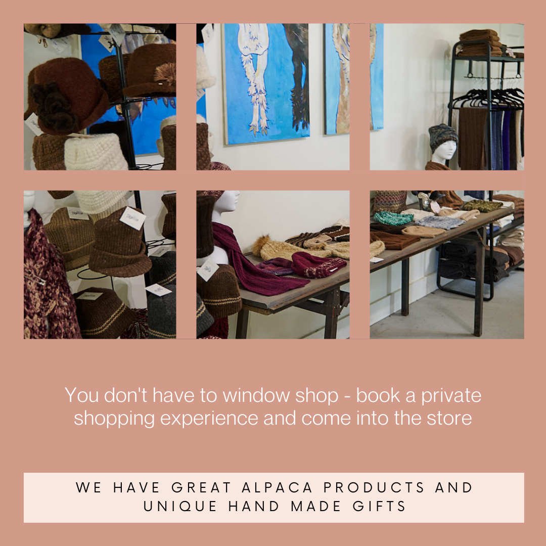 See all of the products from American Made alpaca when you book private shopping